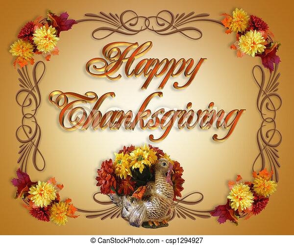 感謝祭, カード, 幸せ - csp1294927