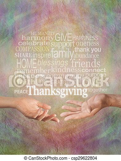 感謝祭, 一緒に, 祝いなさい - csp29622804