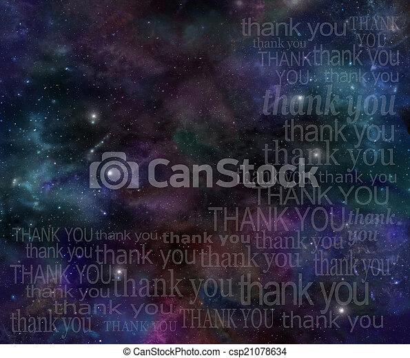 感謝, 宇宙 - csp21078634