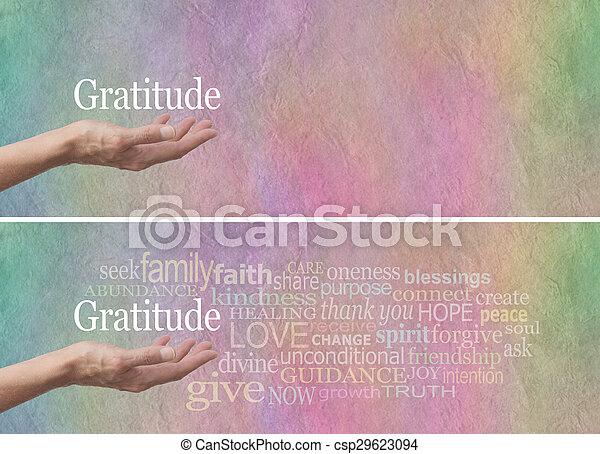 感謝, 態度, 単語, 雲 - csp29623094