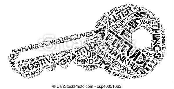 感謝, 概念, 単語, テキスト, 態度, 背景, 雲 - csp46051663