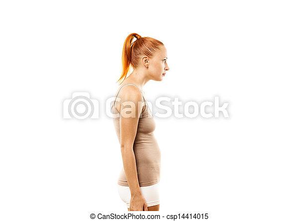 態度, 女, 若い, 欠陥 - csp14414015