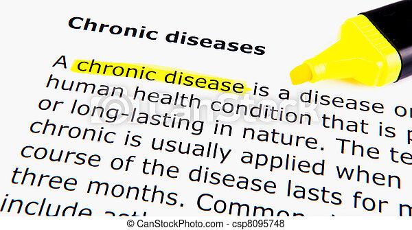 慢性, 疾病 - csp8095748