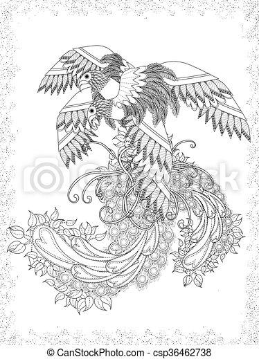 成人, 着色, 鳥, ページ - csp36462738