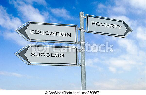 成功, eduacation, 印, 窮乏, 道 - csp9505671