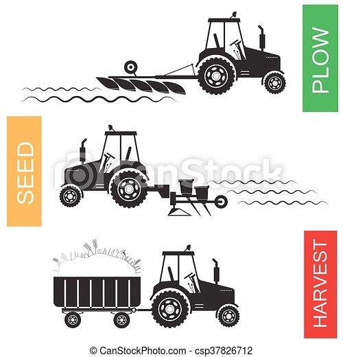 成長する, 農業, 収穫, 収穫する - csp37826712