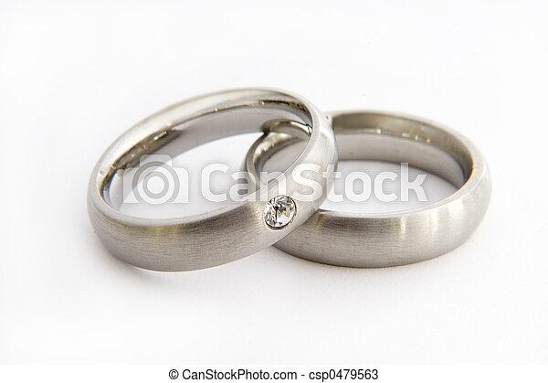 戒指, 婚禮 - csp0479563