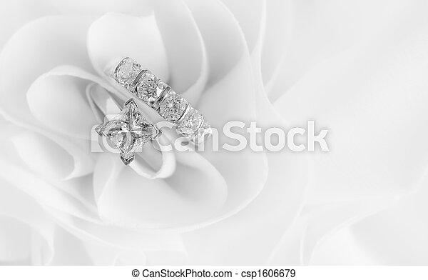 戒指, 鑽石, 婚禮 - csp1606679