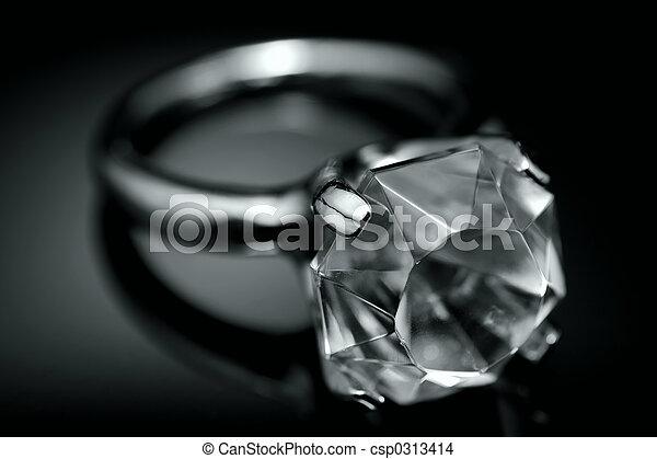 戒指, 鑽石 - csp0313414