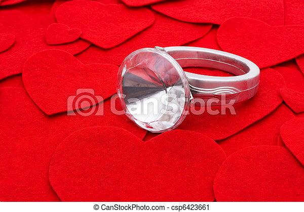 戒指, 鑽石 - csp6423661
