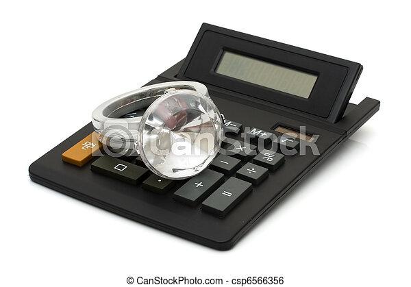 戒指, 鑽石, 費用 - csp6566356
