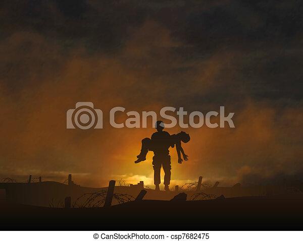 戦争, 死傷者 - csp7682475