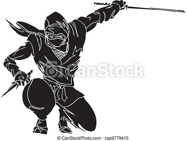 戦闘機, illustration., -, ベクトル, vinyl-ready., ninja - csp9779415