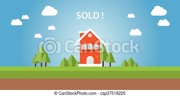房子, 出售, 顶端, 正文 - csp37518225