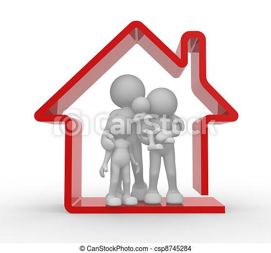 房子, 家庭 - csp8745284