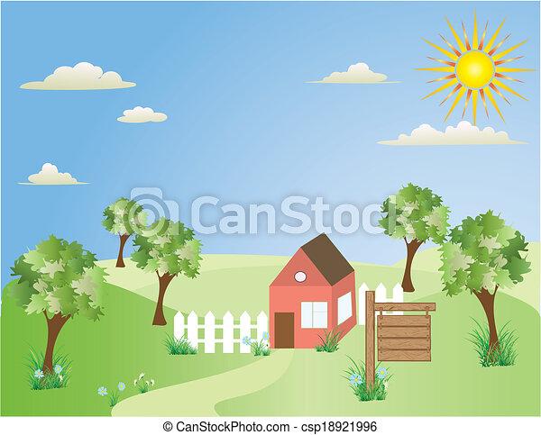 房子, 小山 - csp18921996