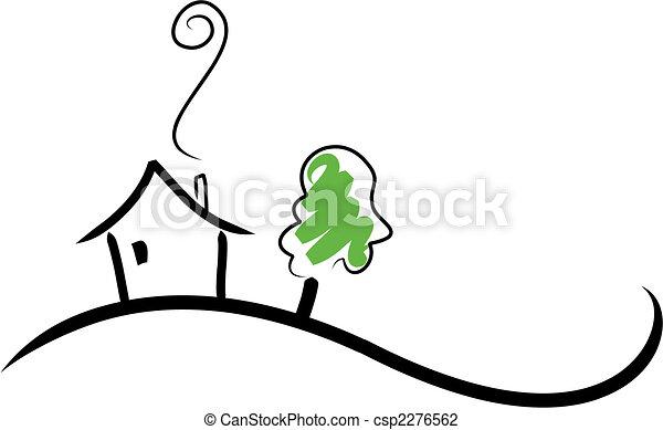房子, 小山 - csp2276562