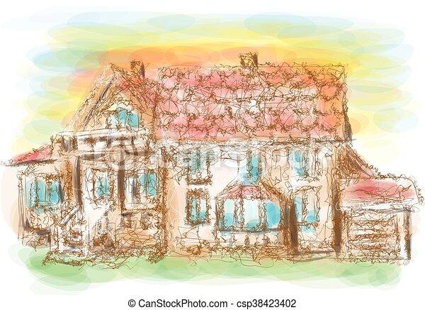 房子, 模型 - csp38423402