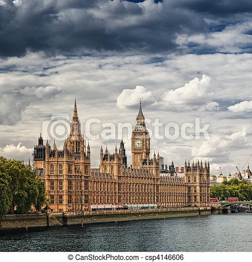 房子, 議會, london. - csp4146606