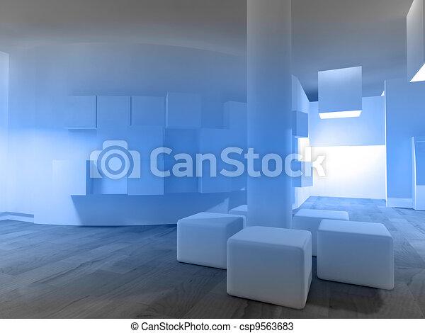 房間, 空間, 醫院, 等待, 門診部, 或者, 空 - csp9563683