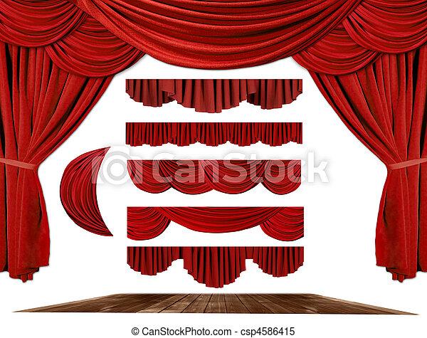 所有するため, 劇場, 作成しなさい, ドレープ, 背景, あなたの, 要素, ステージ - csp4586415