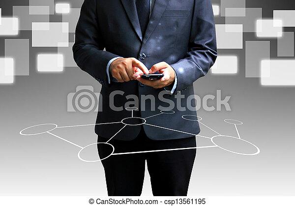手を持つ, pc, タブレット - csp13561195