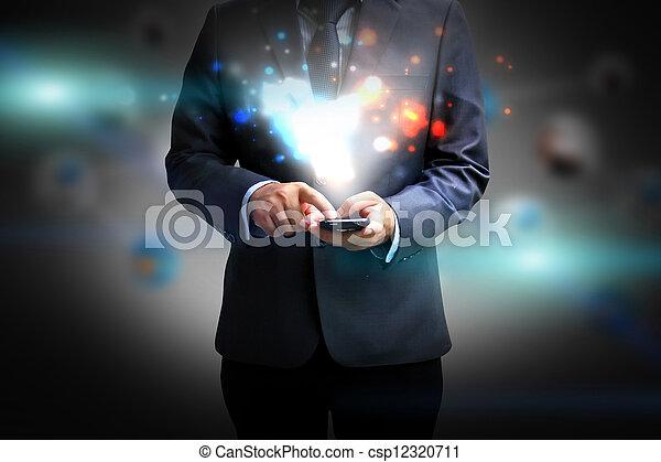 手を持つ, pc, タブレット - csp12320711