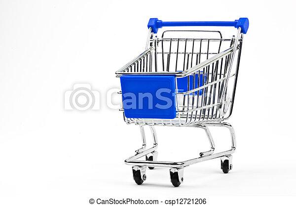 手推车, 购物, 平原, 结束, 背景., 白色素材摄影