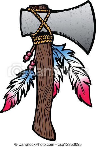 手斧, イラスト - csp12353095