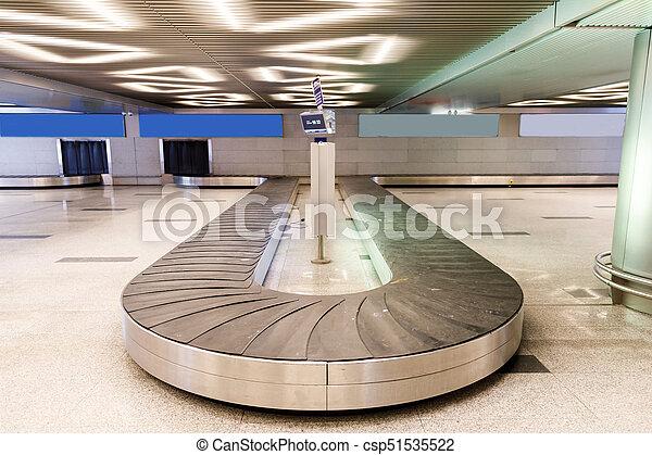 手荷物, 空港, ベルト, コンベヤー - csp51535522