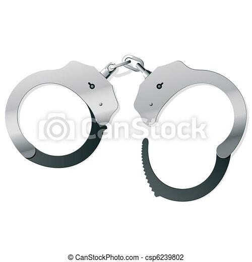 手錠, 金属 - csp6239802
