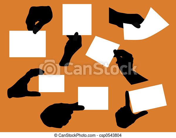 手, ビジネス - csp0543804