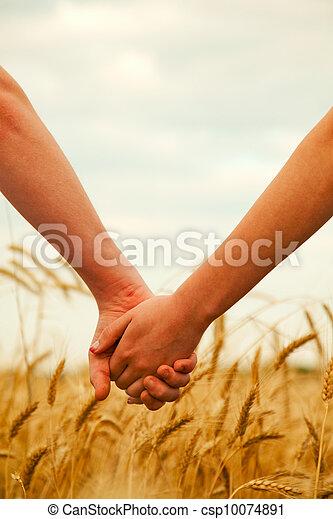 手, 保有物, 恋人, 若い - csp10074891