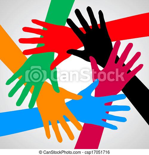 手, friendship. - csp17051716
