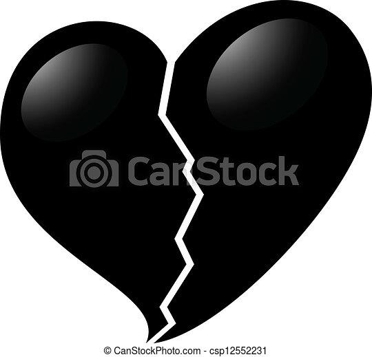 打破, 黑色的心 - csp12552231