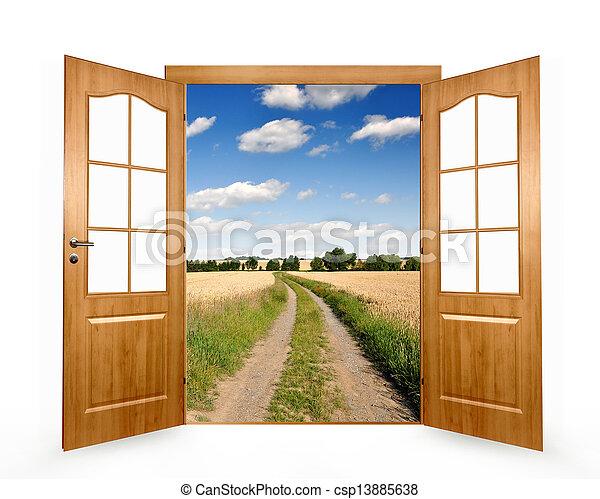 打開門 - csp13885638