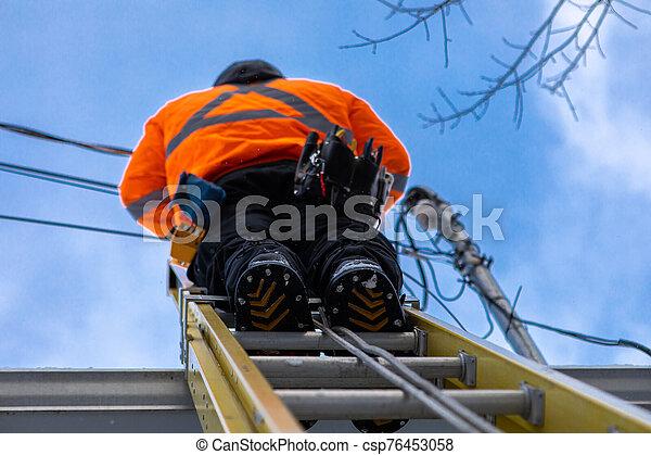 技術者, 仕事, 遠距離通信 - csp76453058