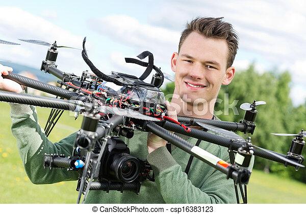 技術者, octocopter, 保有物, uav - csp16383123