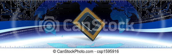 技術, コンピュータ, 旗 - csp1595916