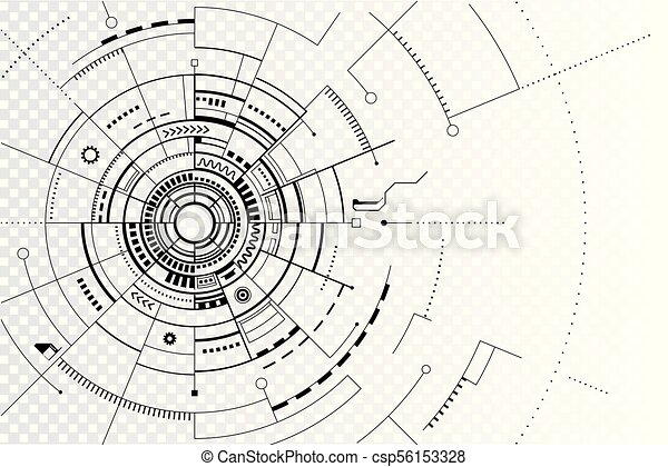 技術, 線, 黒, 抽象的, 背景 - csp56153328
