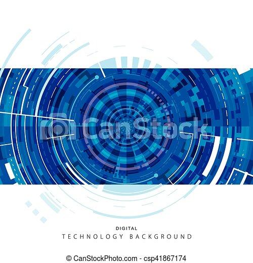 技術, 背景, デジタル - csp41867174