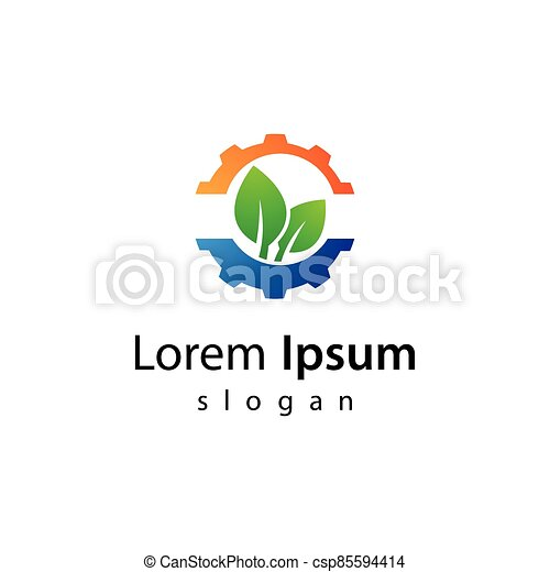 技術, eco, ロゴ, デザイン - csp85594414