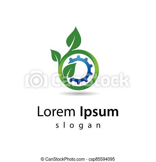 技術, eco, ロゴ, デザイン - csp85594095