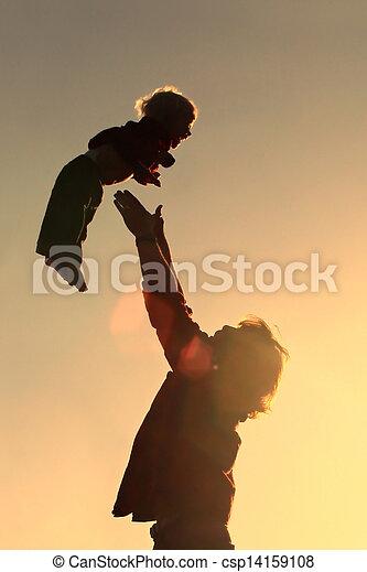 投げる, 父, 息子 - csp14159108