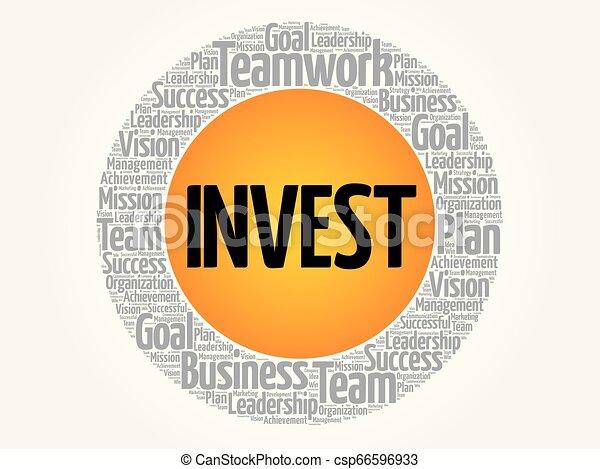 投資しなさい, 円, 単語, 雲 - csp66596933