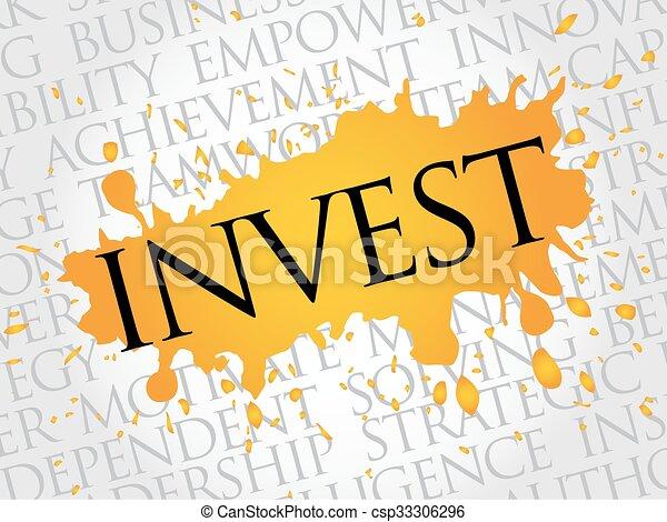 投資しなさい, 単語, 雲 - csp33306296