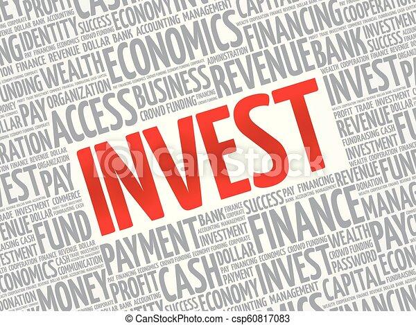 投資しなさい, 単語, 雲 - csp60817083