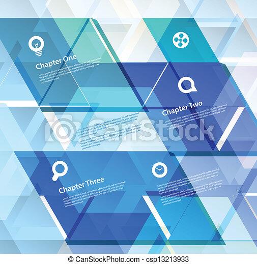抽象的なデザイン, 幾何学的, テンプレート - csp13213933