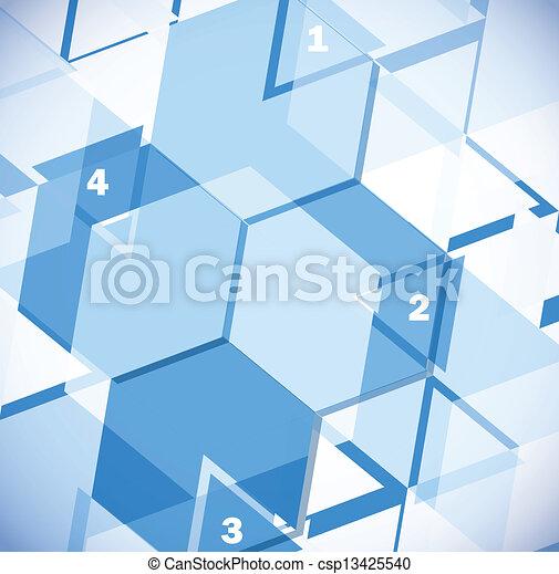 抽象的なデザイン, 幾何学的, テンプレート - csp13425540