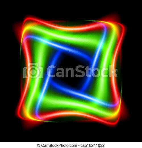 抽象的な形, カラフルである - csp18241032